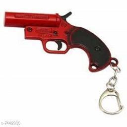 Advikavya PUBG Flaire Red Gun Key Chain