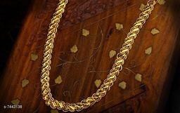 Handmade Gold Plated Dual Design Link Chain