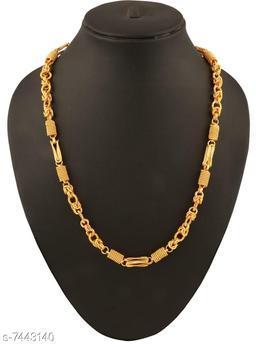 Men's Designer Link Chain with Gold Plating