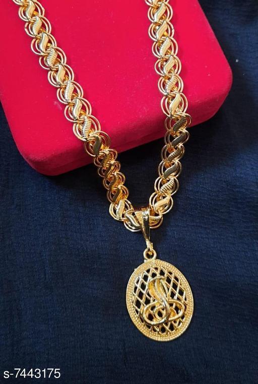 Shiv Rudra Trishul Shivlinga Rudraksha Pendant with leaf pattern chain