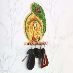 The Craft Corner Ganesh key stand in metal