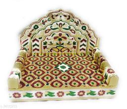 The Craft Corner Meena Work for  Lord Krishna Sai Baba & Rama Home Mandir Decoration Medium Size Swing/Jhula from Vrindavan