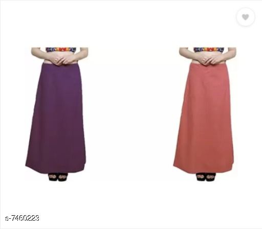 Ethnic Bottomwear - Petticoats Trendy Cotton Women's Petticoat  *Fabric* Cotton  *Multipack* 2  *Sizes*  Free Size  *Sizes Available* Free Size *    Catalog Name: Sassy Women Petticoats CatalogID_1200117 C74-SC1019 Code: 503-7460223-