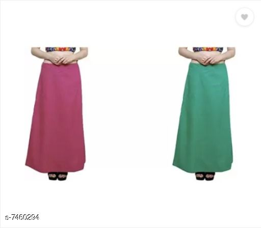 Ethnic Bottomwear - Petticoats Trendy Cotton Women's Petticoat  *Fabric* Cotton  *Multipack* 2  *Sizes*  Free Size  *Sizes Available* Free Size *    Catalog Name: Fancy Women Petticoats CatalogID_1200132 C74-SC1019 Code: 752-7460294-