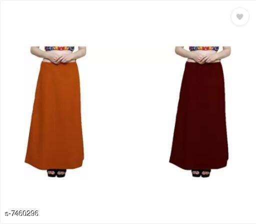 Ethnic Bottomwear - Petticoats Trendy Cotton Women's Petticoat  *Fabric* Cotton  *Multipack* 2  *Sizes*  Free Size  *Sizes Available* Free Size *    Catalog Name: Fancy Women Petticoats CatalogID_1200132 C74-SC1019 Code: 752-7460296-