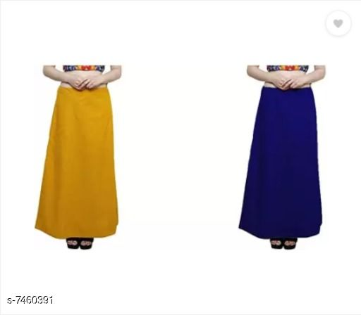 Ethnic Bottomwear - Petticoats Trendy Cotton Women's Petticoat  *Fabric* Cotton  *Multipack* 2  *Sizes*  Free Size  *Sizes Available* Free Size *    Catalog Name: Comfy Women Petticoats CatalogID_1200152 C74-SC1019 Code: 603-7460391-