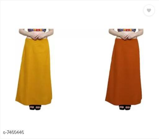 Ethnic Bottomwear - Petticoats Trendy Cotton Women's Petticoat  *Fabric* Cotton  *Multipack* 2  *Sizes*  Free Size  *Sizes Available* Free Size *    Catalog Name: Sassy Women Petticoats CatalogID_1200165 C74-SC1019 Code: 752-7460446-