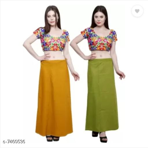 Ethnic Bottomwear - Petticoats Trendy Cotton Women's Petticoat  *Fabric* Cotton  *Multipack* 2  *Sizes*  Free Size  *Sizes Available* Free Size *    Catalog Name: Comfy Women Petticoats CatalogID_1200183 C74-SC1019 Code: 752-7460536-