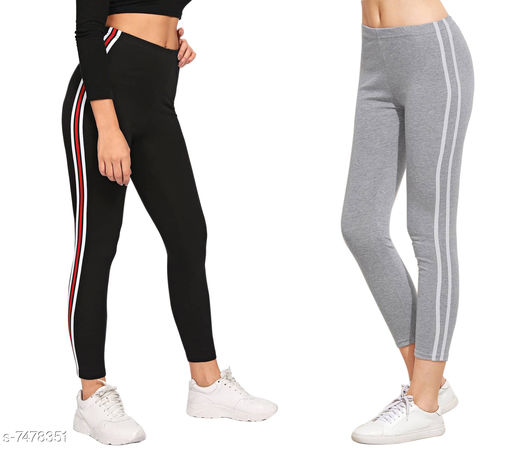 Women's Cotton Rib Full Stretched Ankle Length Combo Pack Of Jeggings