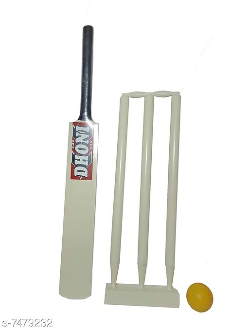 Sports Accessories Sports Accessories  *Material* Wooden 1 Bat,3 Wickets with Base,Bails and Ball  *Type * Sports Accessories  *Multipack * Single  *Size *  Free Size  *Sizes Available* Free Size *   Catalog Rating: ★4.1 (19)  Catalog Name: Sports Accessories CatalogID_1204108 C81-SC1287 Code: 955-7479232-
