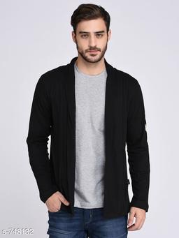 Stylish Cotton Solid Full Sleeves Hooded Jacket