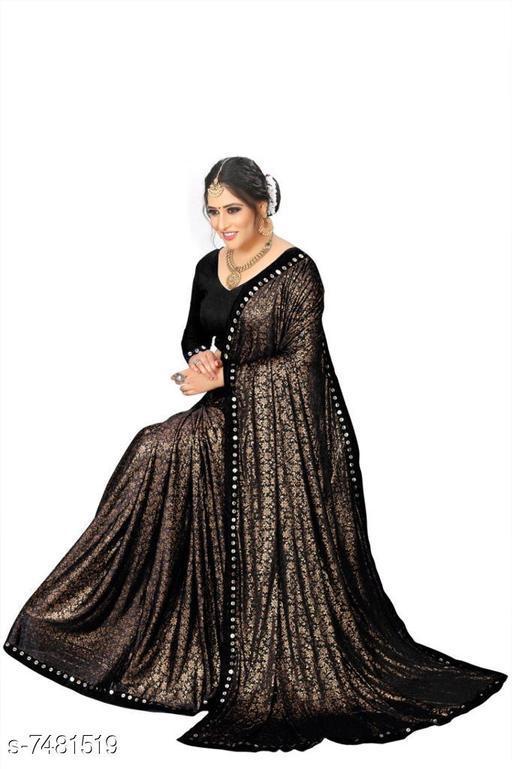 Flute Fashion Designer Lycra Saree