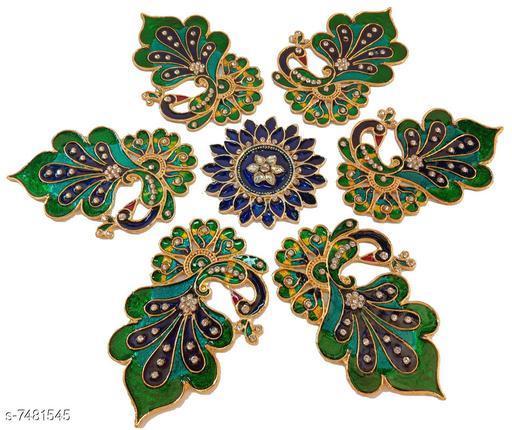 Rangoli & Festive Stickers Peacock Ranoli  *Material* Acrylic  *Pack* Pack of 1  *Sizes Available* Free Size *    Catalog Name: Designer Rangoli Stickers CatalogID_1204634 C128-SC1317 Code: 507-7481545-