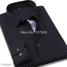 fashlook black dotted shirt for men