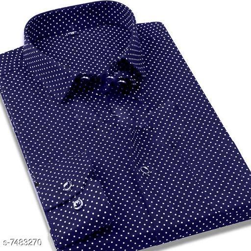 fashlook navy dotted shirt for men