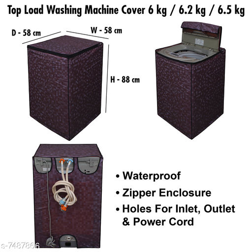 Dream Care Washing Machine Cover For Fully Automatic Top Load  6 kg , 6.2 kg , & 6.5 kg, Polyester