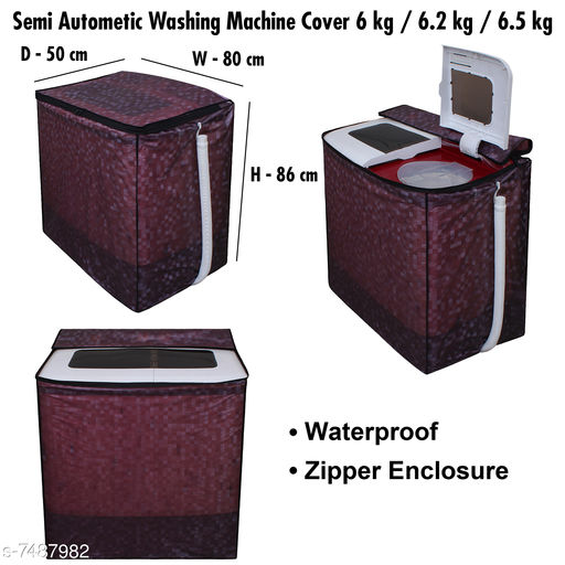 Dream Care Washing Machine Cover For Semi Automatic  6 kg , 6.5 kg, Polyester