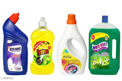 Floor cleaners Best Quality Floor Cleaner  *Product Name* Toilet cleaner,Dishwash liquid,Liquid detergent,Floor Cleaner  *Product Type* Floor Cleaner  *Capacity* Toilet Cleaner 1 ltr ,Dish-wash Liquid Gel 500 ml,Liquid Detergent 1 ltr ,Floor Cleaner(jasmine)1 ltr  *Multipack* Pack Of 4  *Sizes Available* Free Size *    Catalog Name: Best Quality Floor Cleaner CatalogID_1206923 C89-SC1746 Code: 496-7492124-