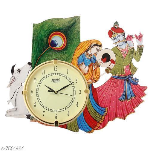 A Wonderful  Krishna  (33Cmx40Cm) Wood Clock  Made In India