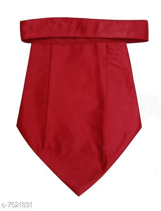 Fancy plain solid satin cravat
