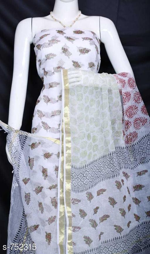 Stylish Kota Doria Cotton Suit