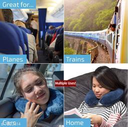 Eastern Club comfert & Soft Neck Support Travel Pillow for Car, Train, Flight, Bus Multipurpose