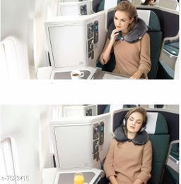 Eastern Club 360 Degree comfert & Soft Neck Support Travel Pillow for Car, Train, Flight, Bus Multipurpose (Grey)