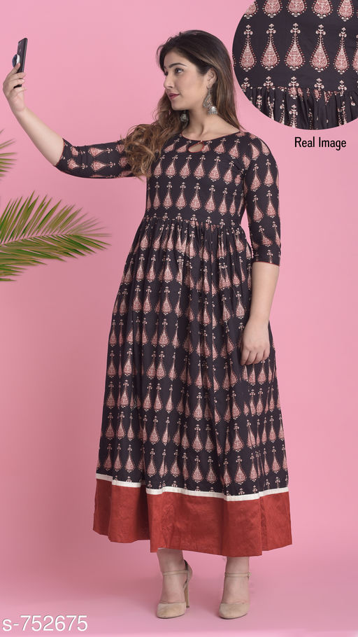 Kurtis & Kurtas Stylish Fancy Kurtis Fabric:Cotton Sleeves:3/4th Sleeves Are Included Size: XS,S,M,L,XL,XXL,3XL,4XL,5XL,6XL,7XL (Refer Size Chart) Type: Stitched Description: It Has 1 Piece Of Kurti Work: Printed / Embroidered Sizes Available: XS, S, M, L, XL, XXL, XXXL, 4XL, 5XL, 6XL, 7XL   Catalog Rating: ★4.4 (323)  Catalog Name: Naishi Fancy Kurtis Vol 2 CatalogID_85527 C74-SC1001 Code: 097-752675-