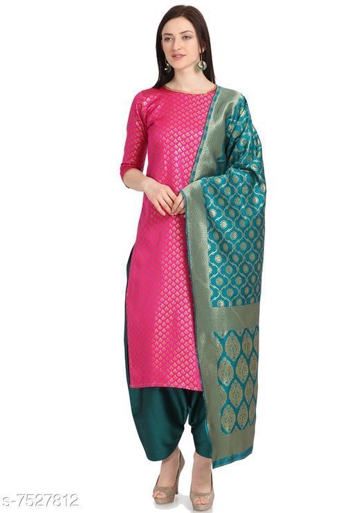 Suits & Dress Materials Trendy Collection Women's Cotton Jacquard Salwar Suit Material-Pink( Suit- 2 MTR, Salwar-2 MTR, Dupatta-2.20 MTR)  *Top Fabric* Jacquard + Top Length  *Bottom Fabric* Taffeta Silk + Bottom Length  *Dupatta Fabric* Jacquard + Dupatta Length  *Lining Fabric* Jacquard  *Type* Un Stitched  *Pattern* Woven Design  *Multipack* Single  *Sizes Available* Un Stitched *    Catalog Name: Myra Sensational Salwar Suits & Dress Materials CatalogID_1214673 C74-SC1002 Code: 676-7527812-9921