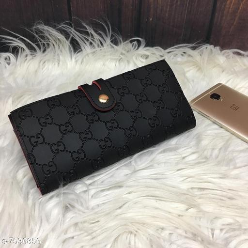 Attractive Women's Black PU Wallet
