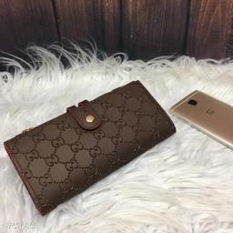 Trendy Women's Brown PU Wallet