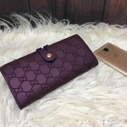 Beautiful Women's Purple PU Wallet