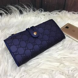 Attractive Women's Blue PU Wallet