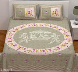 Sangan cart pure cotton 100x100 king size bedsheets