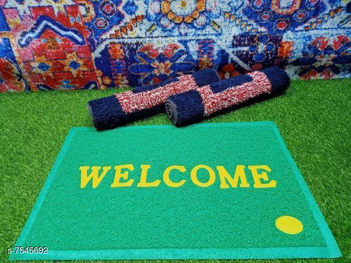 Doormats & Bath Mats Best Doormat  *Material* Cotton and PVC  *Multipack* 3  *Sizes*   *Free Size (Length Size* 60 cm, Width Size  *Sizes Available* Free Size *    Catalog Name:  Attractive Doormats CatalogID_1218480 C55-SC1118 Code: 213-7545692-