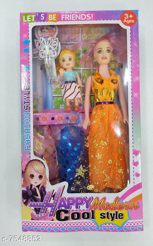 Dolls Barbie doll princess doll for girls   *Material* Plastic  *Multipack* 1  *Sizes*  Free Size  *Sizes Available* Free Size *   Catalog Rating: ★3.5 (65)  Catalog Name: Classic Unisex Dolls CatalogID_1219156 C86-SC1291 Code: 523-7548852-
