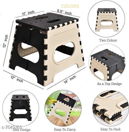 Folding Stool for Adults and Kids Bedroom & Kitchen Stool