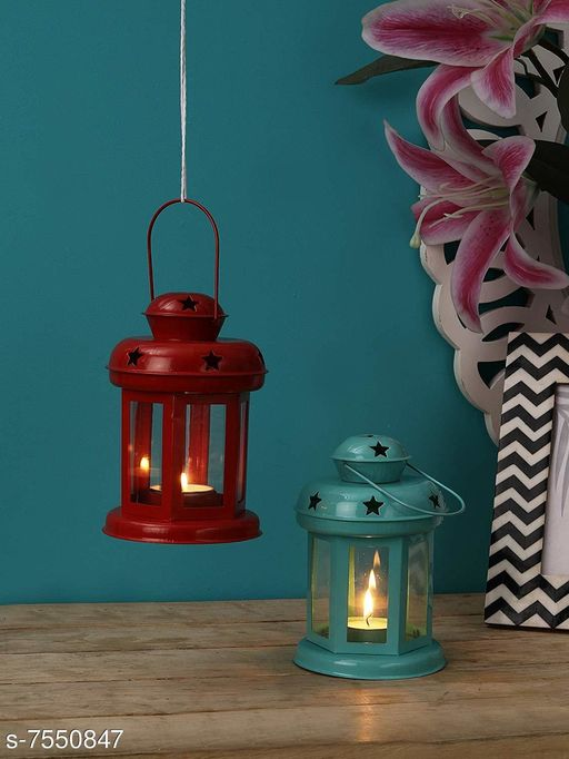Others Red And Bluecombo Material: Metal Pack: Pack of 2 Product Length: 10 cm Product Breadth: 10 cm Product Height: 14 cm Country of Origin: India Sizes Available: Free Size   Catalog Rating: ★4.4 (198)  Catalog Name: Stylo Candle Candle Holders CatalogID_1219626 C81-SC1274 Code: 692-7550847-