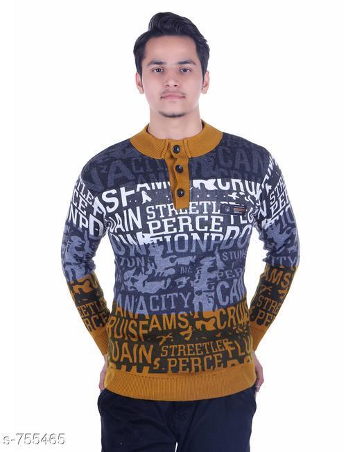 Men's Fashionable Woolen Fancy Sweater