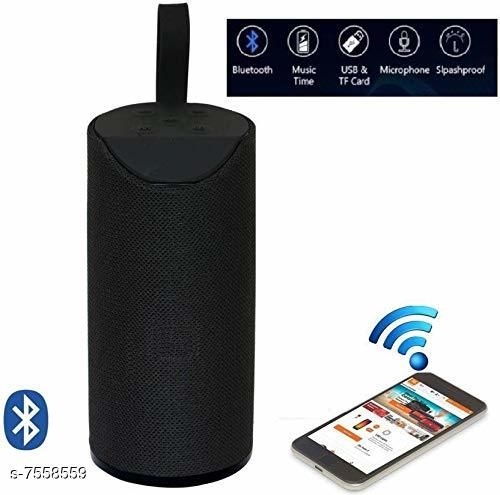 TG113 Super Bass Splash Proof Wireless Bluetooth Speaker Best Sound Quality Playing with All Device(BLACK)