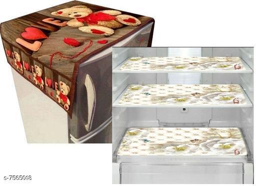 Mats for Fridge/Refrigraotr Drawer  Mats Combo  fridge Mat:11.5*17.5 inch,Top cover: 21*39 Inch, set of 3 fridge mat + 1top cover