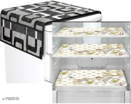 Mats for Fridge/Refrigraotr Drawer  Mats Combo  fridge Mat:11.5*17.5 inch,Top cover: 21*39 Inch,set of 3 fridge mat + 1top cover