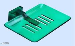 Unbrekable Fancy (Green) soapDish Single  (Pack of 3 )