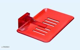 Unbrekable Fancy (Red) soapDish Single  (Pack of 3 )