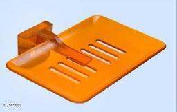 Unbrekable Fancy (Orange) soap Dish Single  (Pack of 3 )