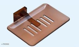 Unbrekable Fancy (Brown) soap Dish Single  (Pack of 3 )