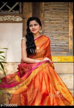 Beautiful tissue linen saree