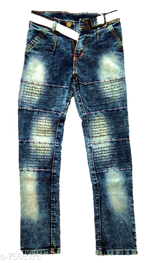 Jeans Kids New Stylish Look Jeans   *Fabric* Denim  *Multipack* Single  *Sizes*  8-9 Years  *Sizes Available* 8-9 Years *   Catalog Rating: ★4 (4)  Catalog Name: Pretty Funky Boys Jeans & Jeggings CatalogID_1223061 C59-SC1180 Code: 073-7566975-