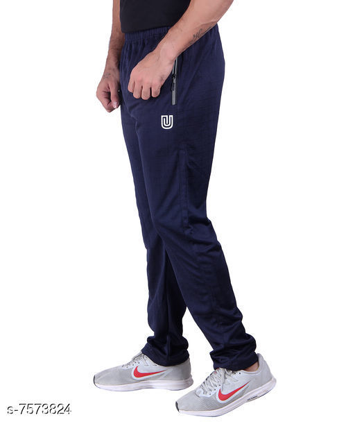 Casual Micro Polyester Blend Track Pants