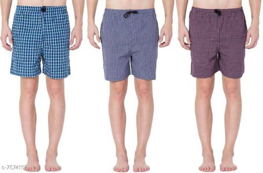 Boxers & Lounge Shorts Men Inner & Sleep Wear Boxers    *Fabric* Cotton  *Pattern* Printed  *Multipack* 3  *Sizes*   *XL (Waist Size* 34 - 36 in, Length Size  *S (Waist Size* 28 - 30  in, Length Size  *M (Waist Size* 30 - 32  in, Length Size  *L (Waist Size* 32 - 34 in, Length Size  *Sizes Available* 28, 30, 32, 34, 36 *   Catalog Rating: ★3.7 (419)  Catalog Name: Men Inner & Sleep Wear Boxers CatalogID_1224664 C68-SC1218 Code: 863-7574157-